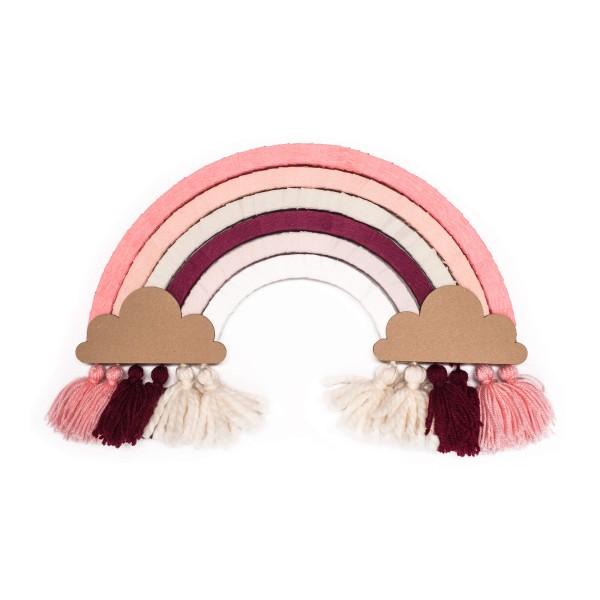 DIY Regenbogen basteln - Monochrom Pink