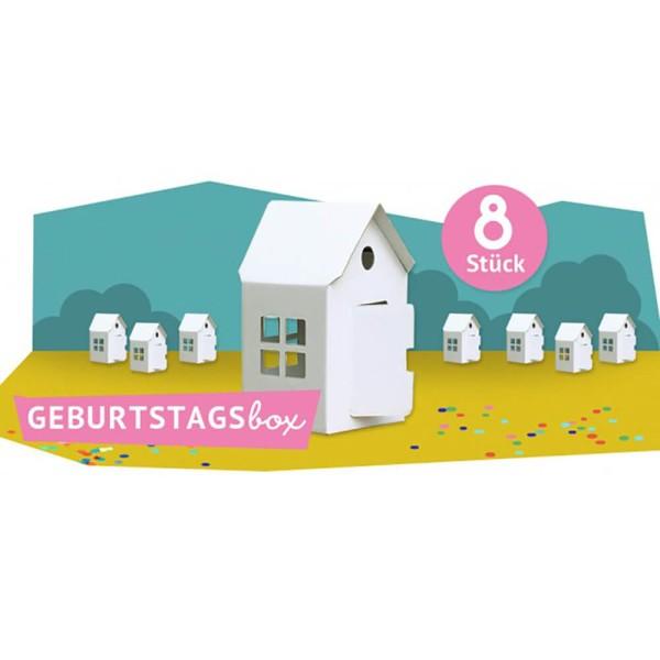 Bibabox - Geburtstagsbox Kleines Haus 8 Stück