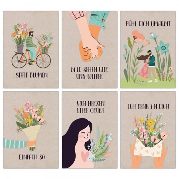 12 Postkarten Blumengruß