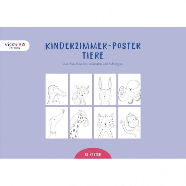 Kinderzimmer-Poster zum Ausmalen - Tiere