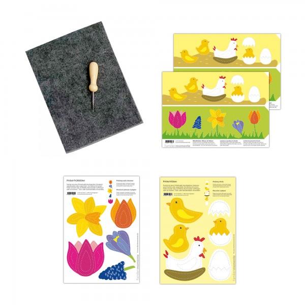 Prickeln für Kinder - Prickelset Frühling Küken