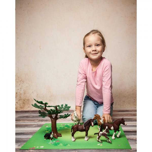 Spielmatte Motiv: Graslandschaft mit Blumen