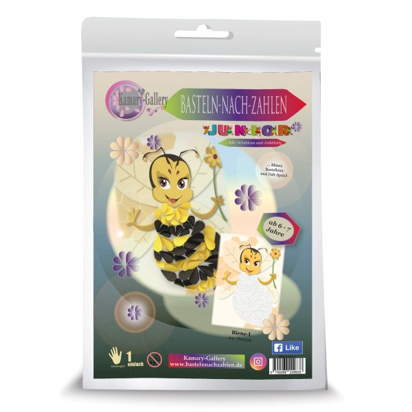 Basteln nach Zahlen - Bastelset: Biene