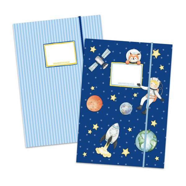 2 Schulmappen Motiv Astronaut