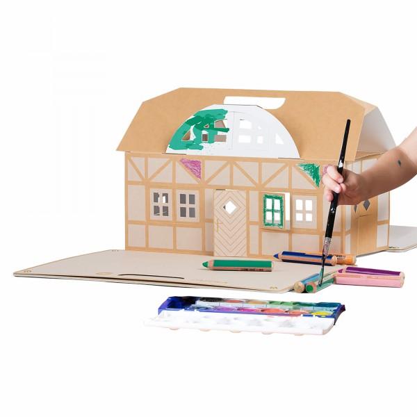 Klappbares Kreativ-Papphaus