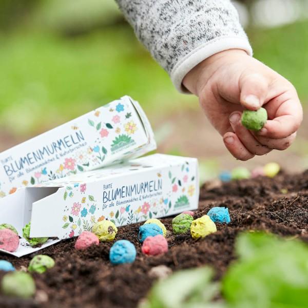 Blumenmurmeln für Kinder