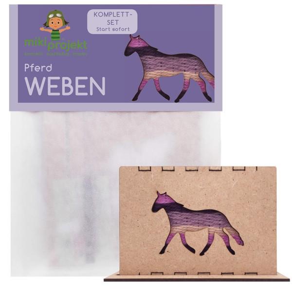 Bastelset Pferd - Weben für Kinder