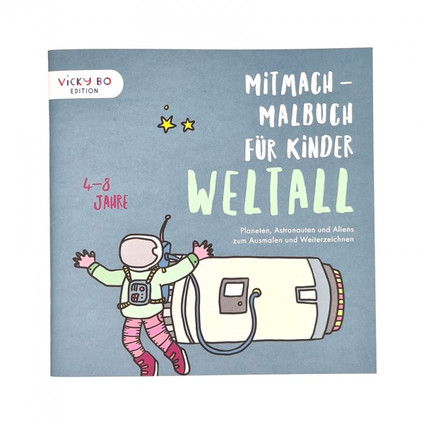 Mitmach-Malbuch Weltall 4-8 Jahre