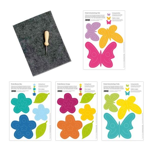 Prickeln für Kinder - Prickelset Blumenwiese