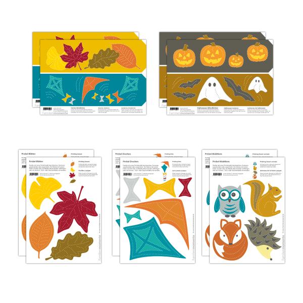 Prickeln für Kinder - 10 Prickelvorlagen Herbst