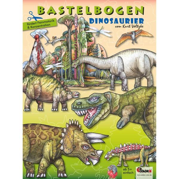 Bastelbogen Dinosaurier