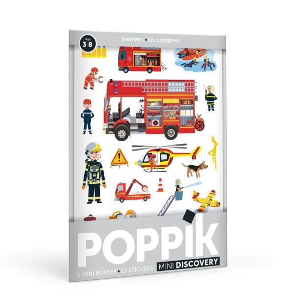 Poppik Stickerposter - Motiv Feuerwehrleute (3-8 Jahre)