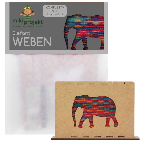 Bastelset Elefant - Weben für Kinder