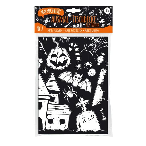 """Ausmal-Tischdecke aus Papier """"Halloween"""""""