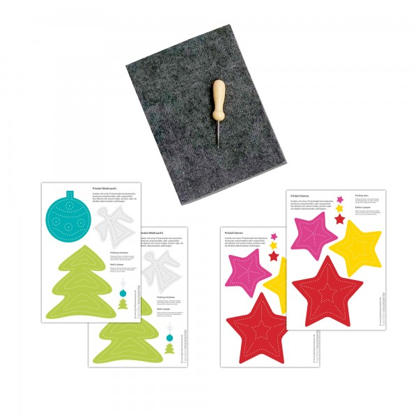 Prickeln für Kinder - Prickelset Weihnachtsengel
