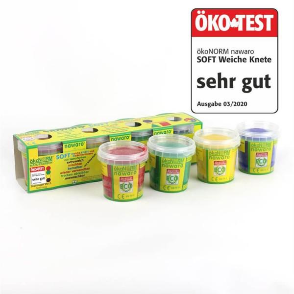 ökoNorm SOFT-Knete nawaro, 4 Farben