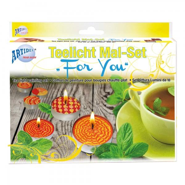"Teelicht Mal-Set ""For You"""