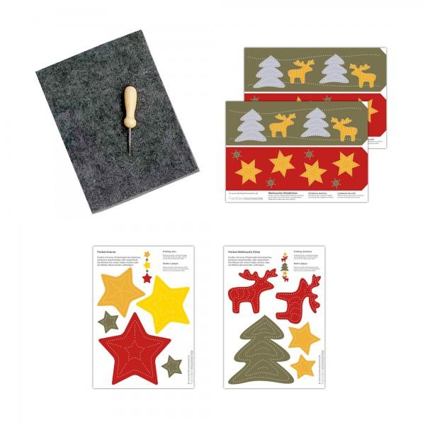 Prickeln für Kinder - Prickelset Weihnachtselche