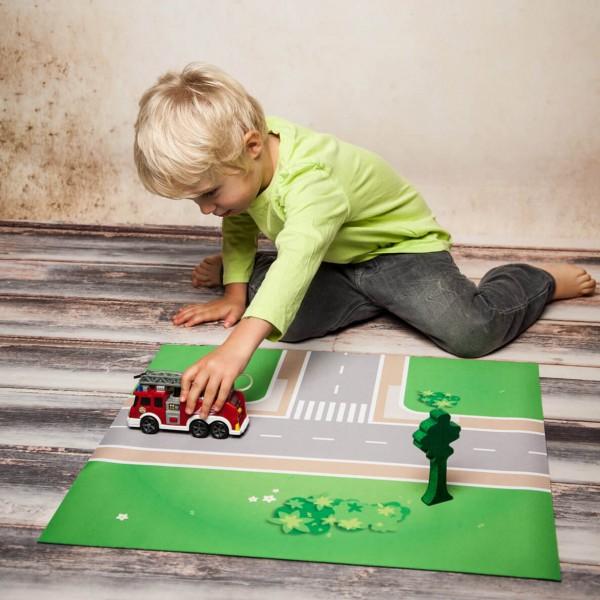 Spielmatte T-Straßenkreuzung