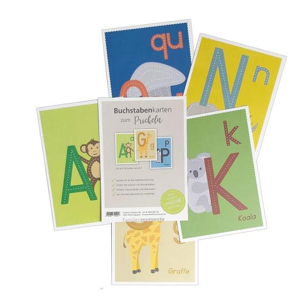 Prickeln für Kinder - Buchstabenkarten zum Prickeln
