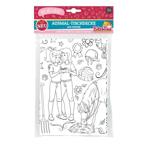 """Ausmal-Tischdecke aus Papier """"Bibi & Tina"""""""
