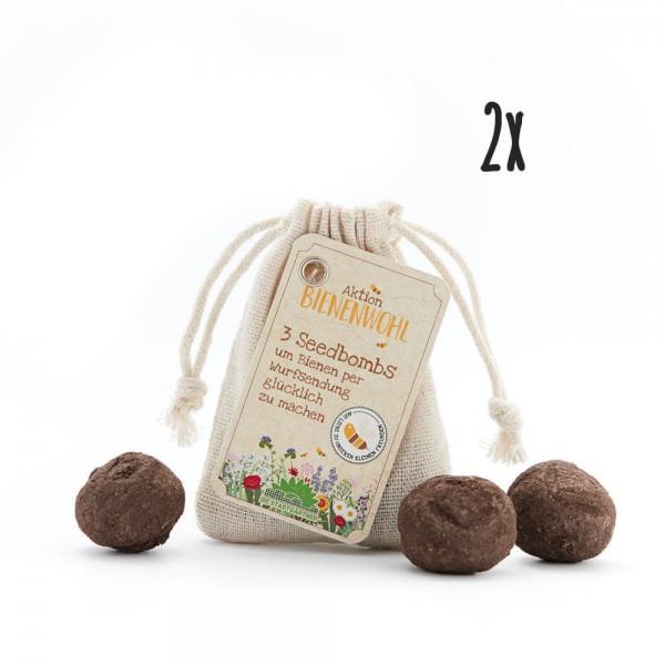 2er Set Seedbombs Bienenwohl