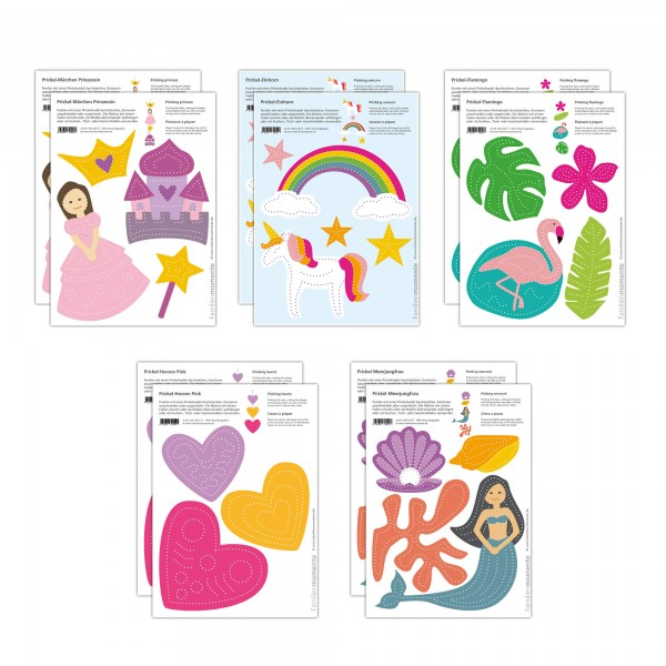 Prickeln für Kinder - 10 Prickelvorlagen Fantasie
