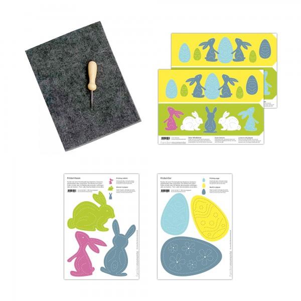 Prickeln für Kinder - Prickelset Ostern