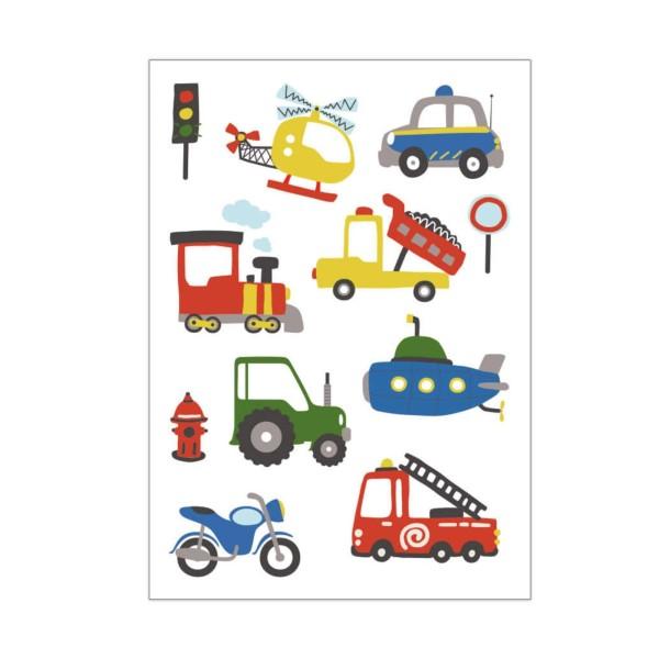 Kindertattoo Fahrzeuge
