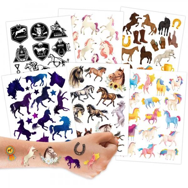 Papierdrachen Kindertattoos Pferde