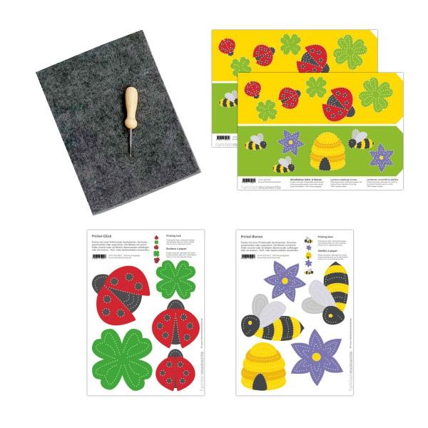 Prickeln für Kinder - Prickelset Biene & Käfer