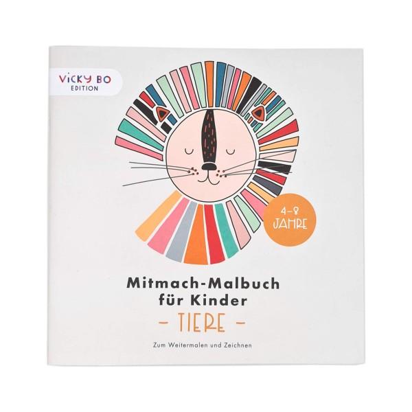 Mitmach-Malbuch Tiere 4-8 Jahre