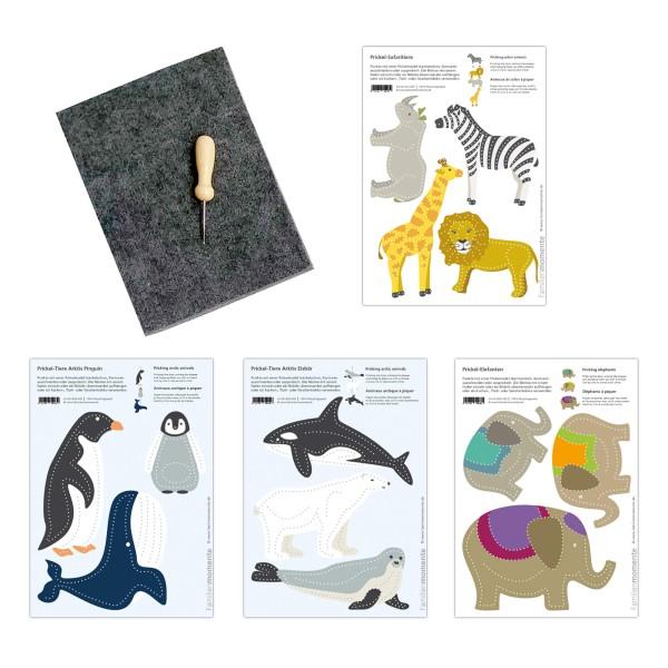 Prickeln für Kinder - Prickelset Tiere