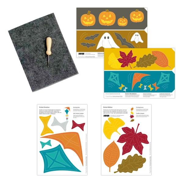Prickeln für Kinder - Prickelset Herbst