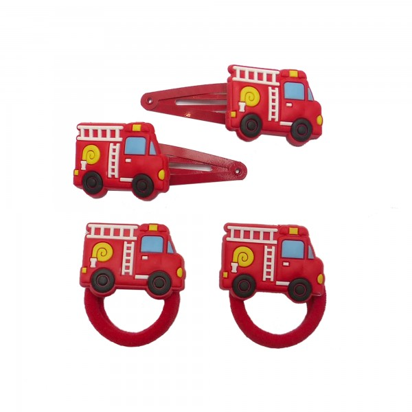 Set Haarspange Feuerwehr