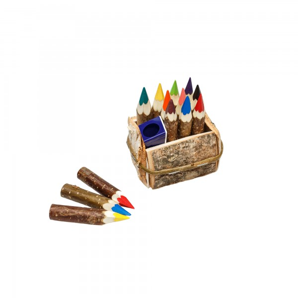 Kunterbunt Zwergenstifte 10er Set mit Korb