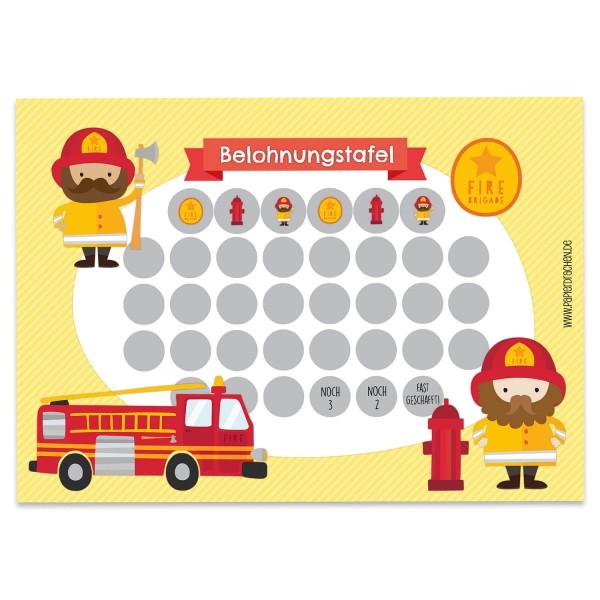 Belohnungstafel Motiv Feuerwehrmann
