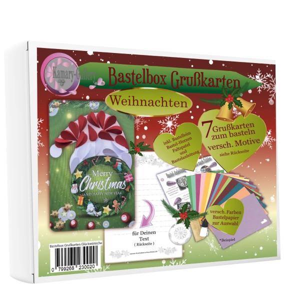Basteln nach Zahlen - 7er Bastelset Grußkarten Weihnachten