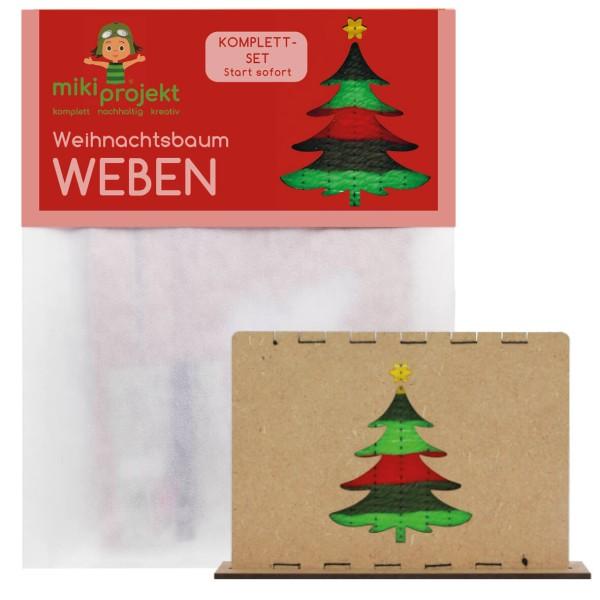 Bastelset Weihnachtsbaum - Weben für Kinder