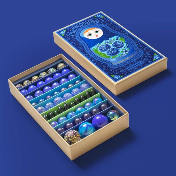 Murmel-Box Blau Matroschka Yelena