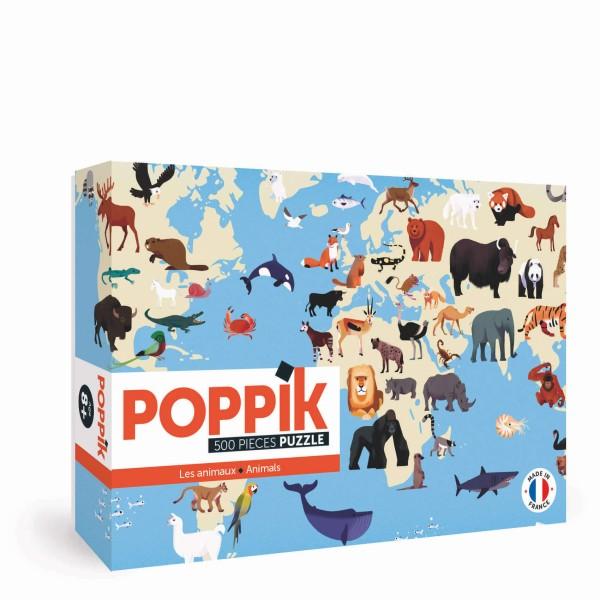 Poppik Puzzle / Tiere der Welt (500 Teile)