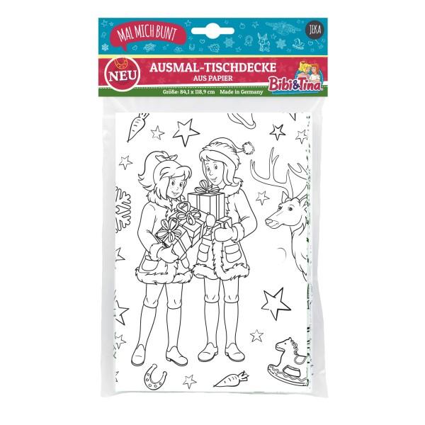 Ausmal-Tischdecke Bibi & Tina Weihnachten