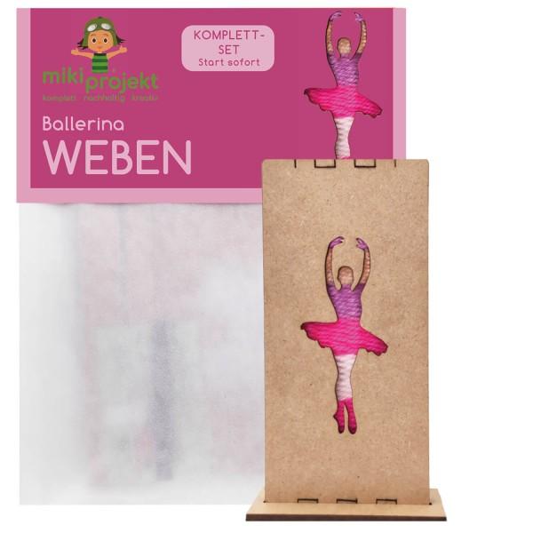 Bastelset Ballerina - Weben für Kinder
