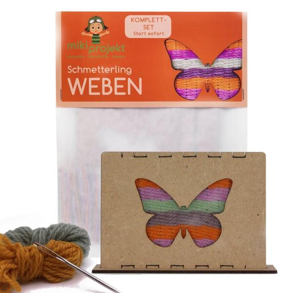Bastelset Schmetterling - Weben für Kinder