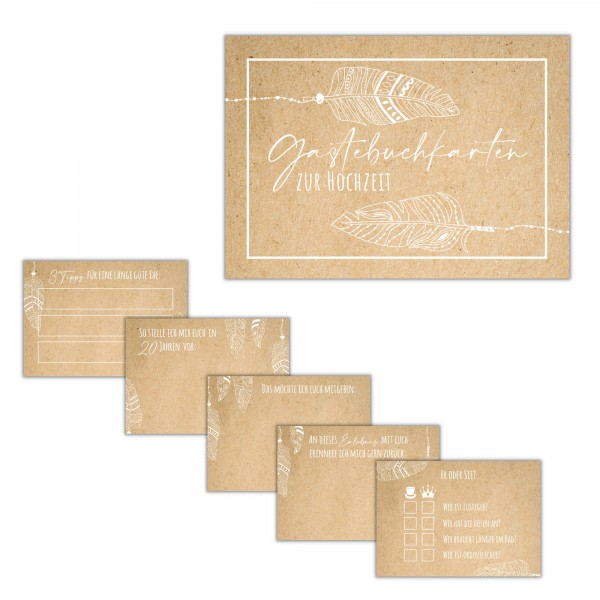 Gästebuch-Karten – Design Boho