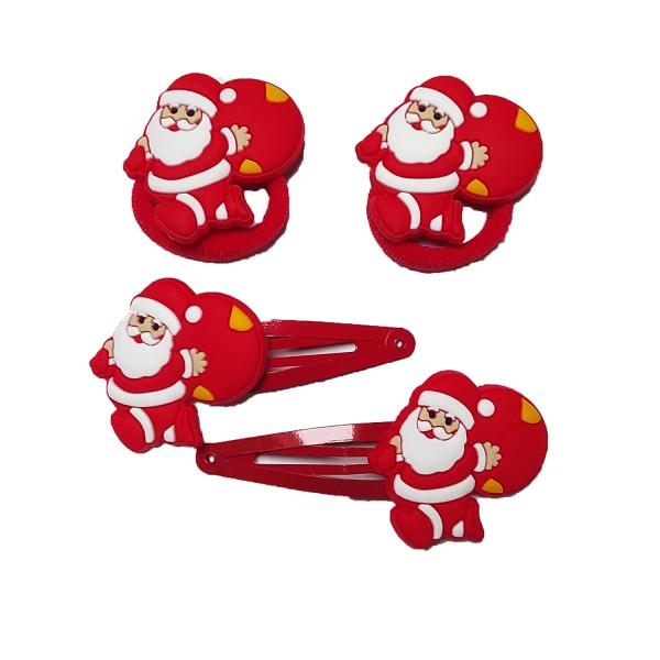 Set Haarschmuck Weihnachtsmann