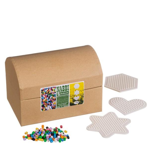 Nabbi 5000 Bio Bügelperlen + 3 Platten in Schachtel