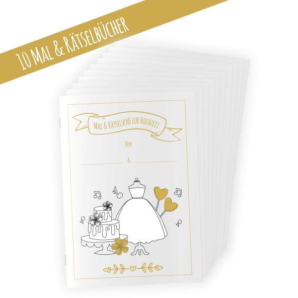 10 Stück Hochzeitsmalbuch für Kinder