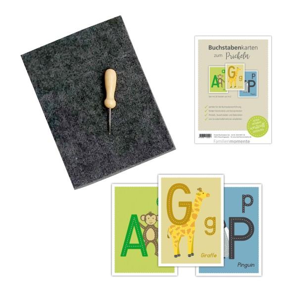 Prickelset für Kinder - Buchstaben zum Prickeln
