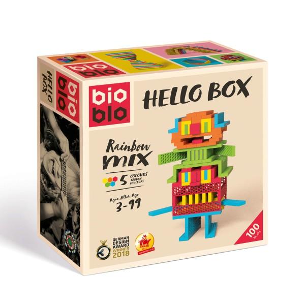 """Bio Blo Hello Box """"Rainbow-Mix"""" - 100 Bausteine"""